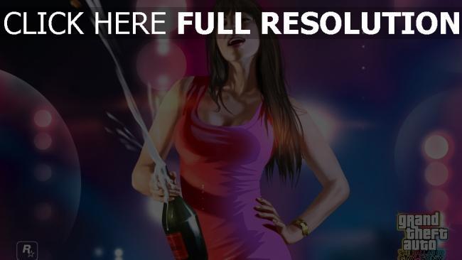 fond d'écran hd gta 5 robe champagne