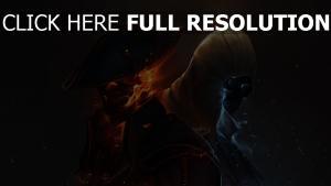 assassin's creed squelette feu