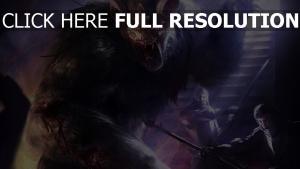 loup-garou monstre combat