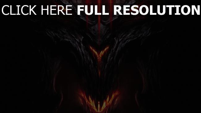 fond d'écran hd diablo 3 démon visage