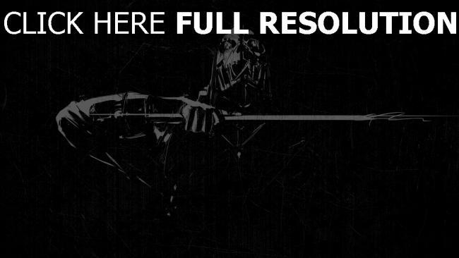 fond d'écran hd dishonored graffiti épée noir et blanc