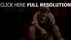 ghost recon soldat geste