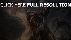god of war combat kratos titan art