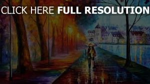 couple promenade parapluie romantique bonheur