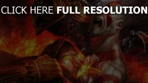 god of war feu combat kratos
