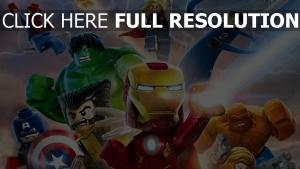 lego marvel super heroes personnages principaux,