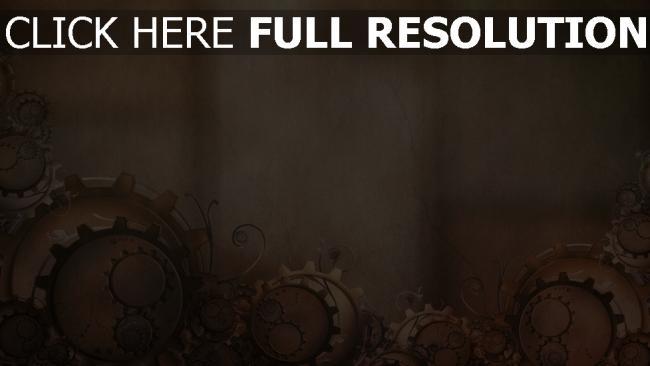fond d'écran hd engrenage composition motif