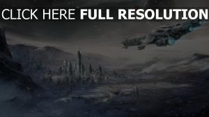 star citizen vaisseau spatial hiver mégalopole