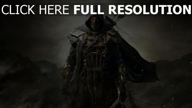 fond d'écran hd the elder scrolls online guerrier masque vue de face