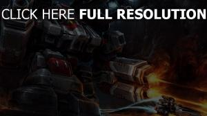 robot starcraft 2 tirer art