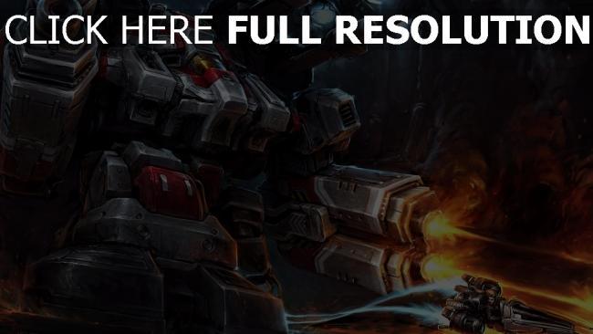 fond d'écran hd robot starcraft 2 tirer art