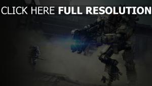 titanfall combat robot pilote poursuite