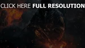 the division masque a gaz étincelle lance-flammes