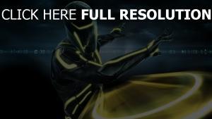 tron guerrier néon lumineux