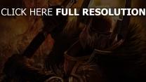 warhammer mark of chaos armure démon gros plan