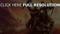 world of warcraft humain elfe orque