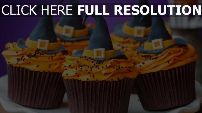 fond d'écran hd gâteau halloween chapeau sorcière