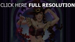 sorcière jolie chapeau sort de magie