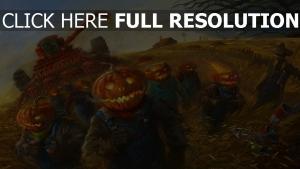 citrouille-lanterne fantôme courir batteuse