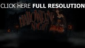 halloween affiche sorcière