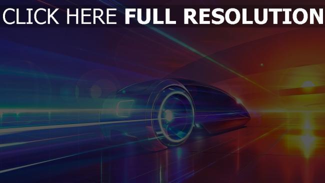fond d'écran hd véhicule vitesse futuriste coucher de soleil