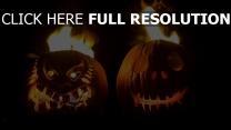 citrouille-lanterne feu halloween