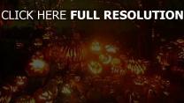citrouille-lanterne sabbat nuit halloween