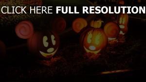 citrouille-lanterne mickey nouse illuminée halloween