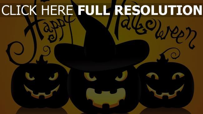 fond d'écran hd citrouille-lanterne inscription regard halloween