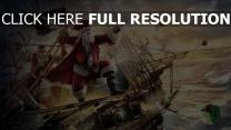 père noël pirate navire voile