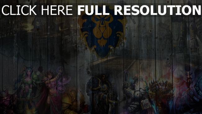 fond d'écran hd world of warcraft graffiti blason